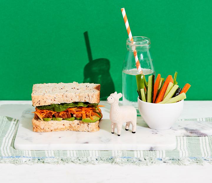 Tofu & Carrot Sandwich