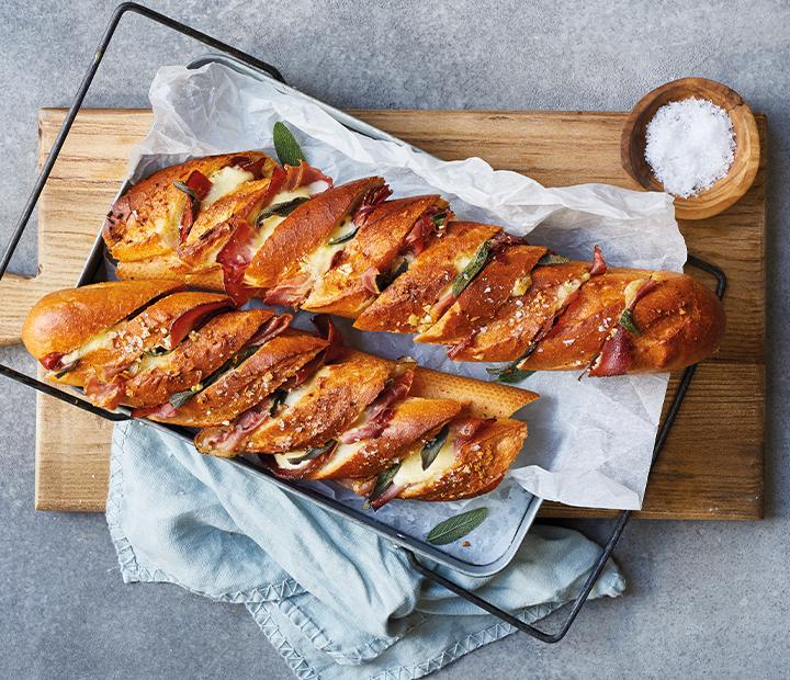 Prosciutto & Sage Garlic Bread