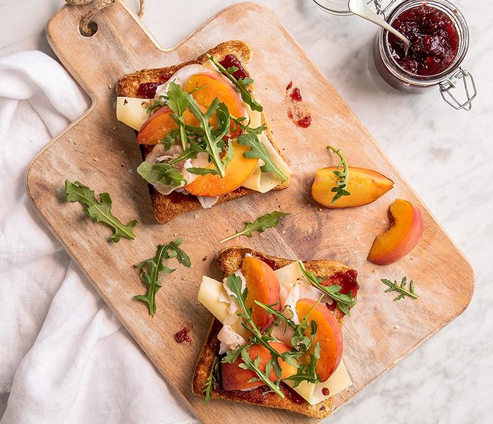 Turkey Peach Sandwich