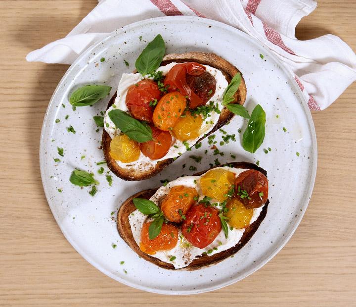 Tomato Ricotta Bruschetta recipe